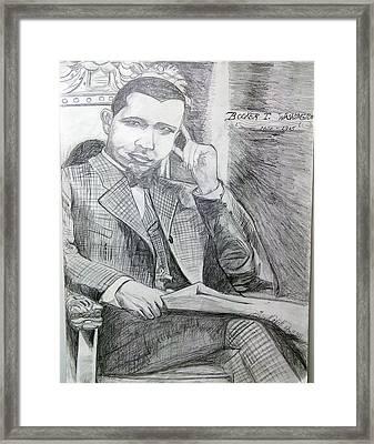 Booker T Washington Framed Print