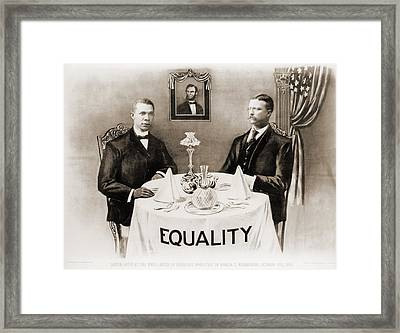 Booker T. Washington Dines Framed Print