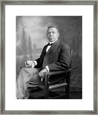 Booker T Washington Framed Print by War Is Hell Store