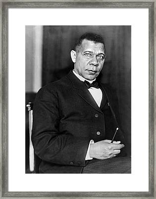 Booker Taliaferro Washington Framed Print by Waldon Fawcett