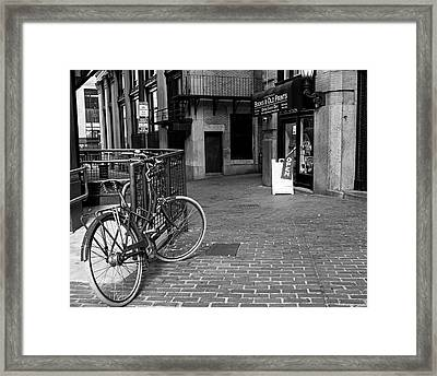 Books And Old Prints Devonshire Place Boston Ma Black And White Framed Print