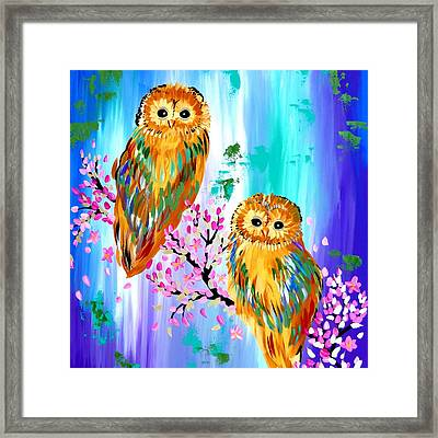 Books Framed Print by Cathy Jacobs