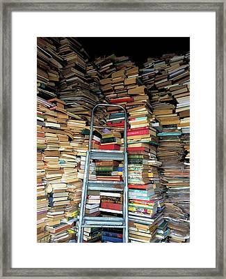Books For Sale Framed Print