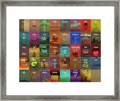 Books Of The Old Testament Graphic Design Minimal Poster Series Complete Framed Print by Design Turnpike