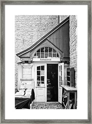Bookstore Framed Print by Benjamin Matthijs