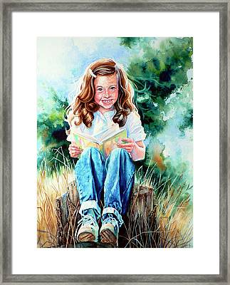 Bookworm Framed Print by Hanne Lore Koehler