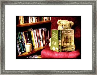 Bookworm Ted Framed Print