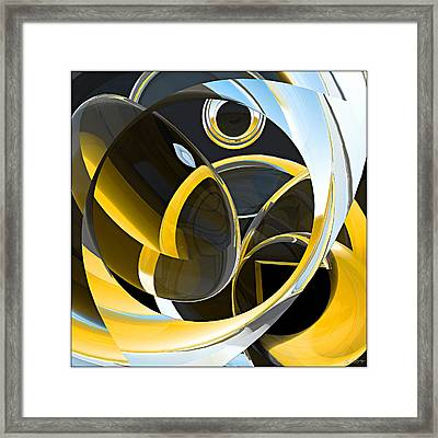 Boolean Refractions Framed Print by Peter J Sucy