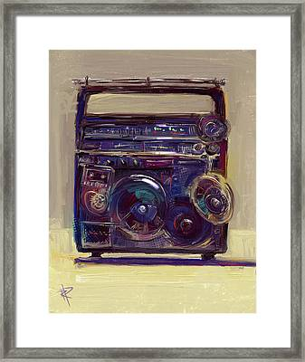 Boom Box Framed Print