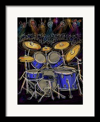 Drum Throne Framed Prints
