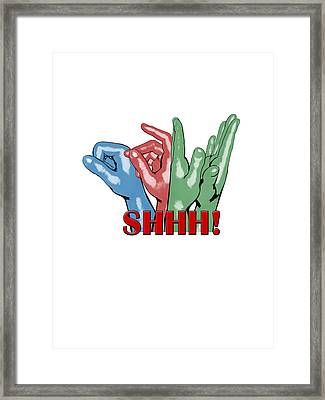 Boom Snap Clap Shhh Framed Print by Lee Brown