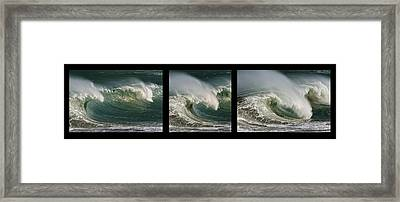 Boomer Beach Framed Print