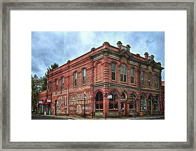 Boomtown Saloon Jacksonville Oregon Usa Framed Print