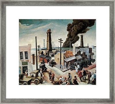 Boomtown Framed Print by Thomas Hart Benton