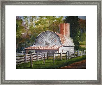 Boone Barn Framed Print by Shirley Braithwaite Hunt