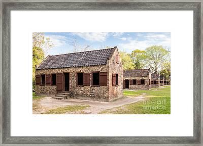 Boone Hall Plantation Slave Cabins Mount Pleasant South Carolina Framed Print by Dawna  Moore Photography