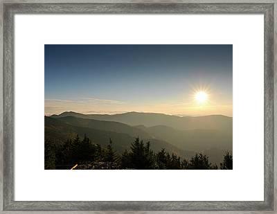 Boone Nc Area Sunset Framed Print
