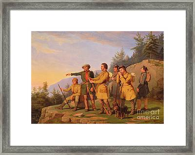 Boone's First View Of Kentucky Framed Print