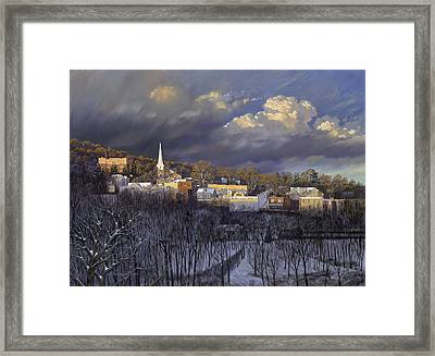 Boonton In Winter Framed Print by David Henderson