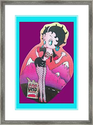 Boop Oop A Doop Framed Print by DigiArt Diaries by Vicky B Fuller