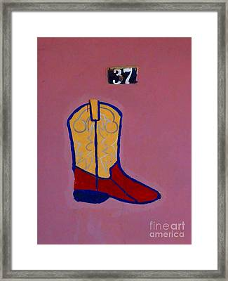 Boot 37 By Darian Day Framed Print
