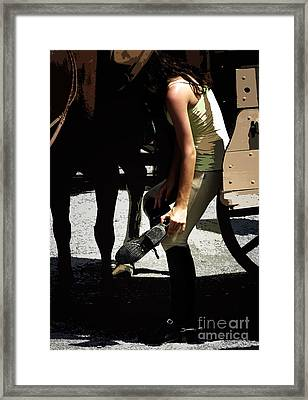 Boot Check  Framed Print by Steven Digman