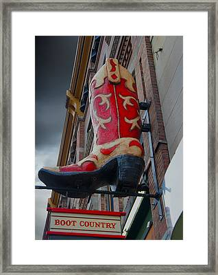 Boot Country Framed Print