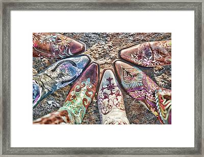 Boot Fan Framed Print