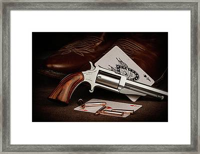 Boot Gun Still Life Framed Print by Tom Mc Nemar