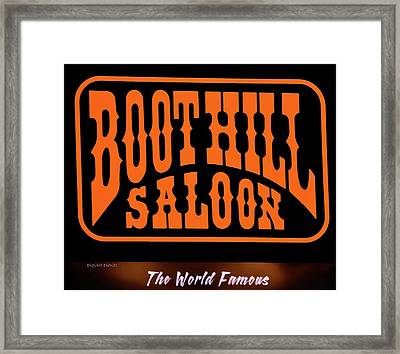 Boot Hill Saloon Sign Framed Print by DigiArt Diaries by Vicky B Fuller
