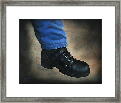 Boot Framed Print by Luis  Navarro
