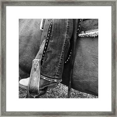 Boot Stubble   Framed Print