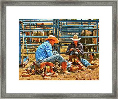 Boot Up Framed Print by Gus McCrea