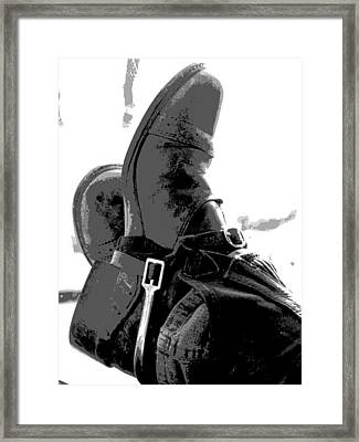 Booted Up Framed Print by Donna Thomas