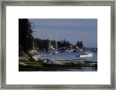 Boothbay Harbor In Maine Framed Print