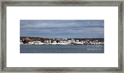 Boothbay Harbor In Winter Framed Print by Olivier Le Queinec