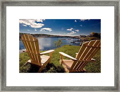 Boothbay Harbor Maine Framed Print by George Oze