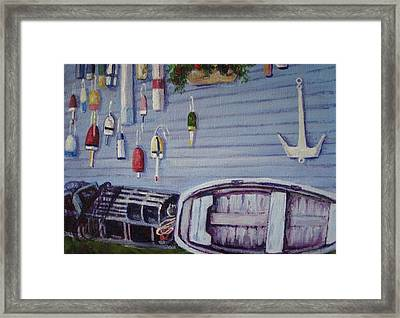 Boothbay Markers Framed Print