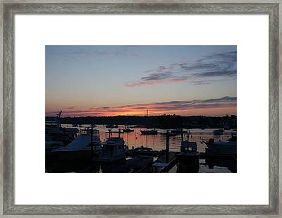 Boothbay Sunset Framed Print by Lois Lepisto