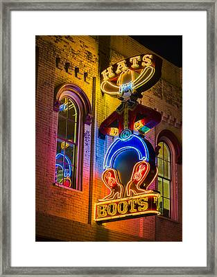 Boots And Hats Framed Print by Stephen Stookey