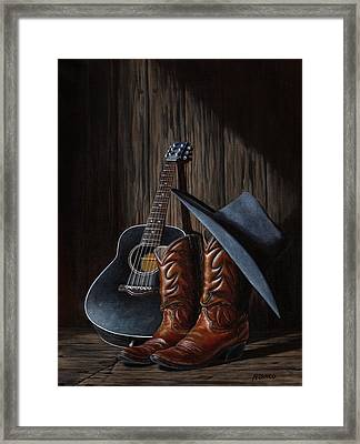 Boots Framed Print by Antonio F Branco