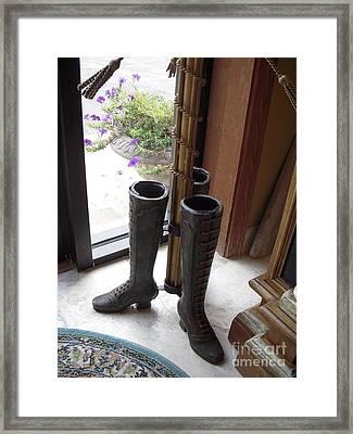Boots Framed Print by Deborah Finley
