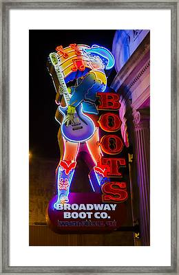These Boots Are Made For Walking Framed Print by Stephen Stookey