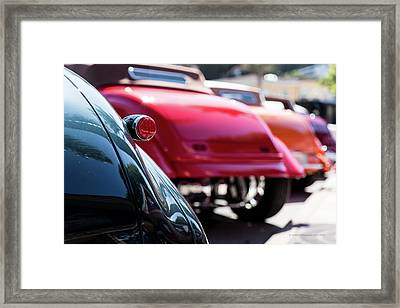 Framed Print featuring the photograph Boots Of Colorful Cars by Lora Lee Chapman