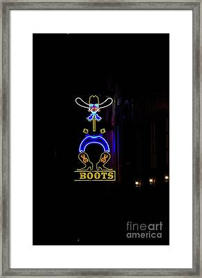 Boots On Broadway Framed Print