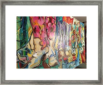 Boots On The Ground Framed Print