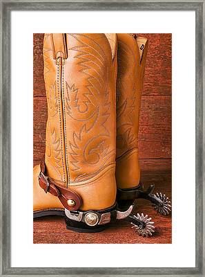 Boots With Spurs Framed Print