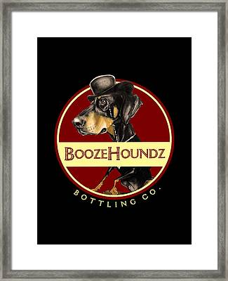 Boozehoundz Bottling Co. Framed Print