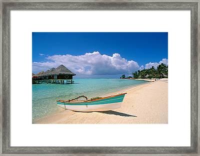 Bora Bora, Hotel Moana Framed Print