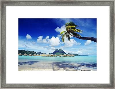 Bora Bora, Lagoon Resort Framed Print by Himani - Printscapes